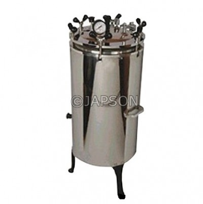 Autoclave, Vertical, Stainless Steel, Nut Locking (Sterilizer Pressure Type)