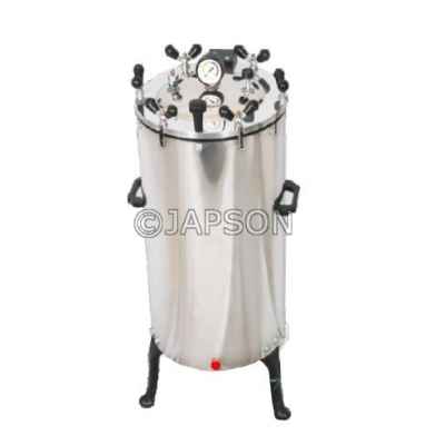 Autoclave, Vertical, Stainless Steel, Nut Locking, (Sterilizer Pressure Type)