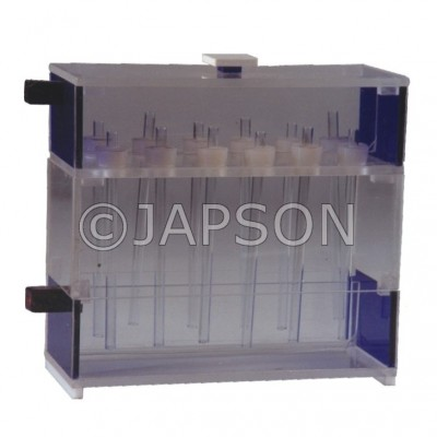 Bar Gel Polyacrylamide Electrophoresis Apparatus Rectangular