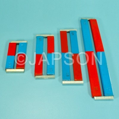 Bar Magnet, Pair, Chrome Steel