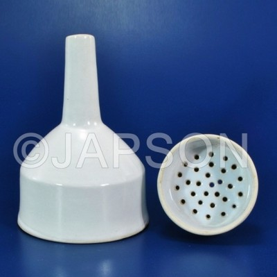Buchner Funnels, Porcelain, With Sintered Disc