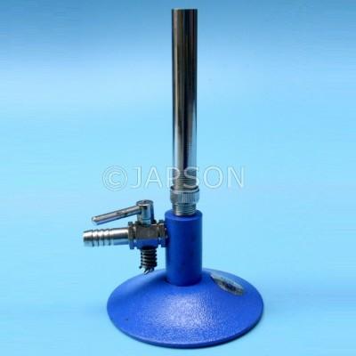 Bunsen Burner with a Gas Regulator (Stop Cock), Brass Pipe
