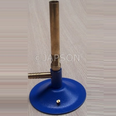 Bunsen Burner with a Spare Jet, Brass Pipe