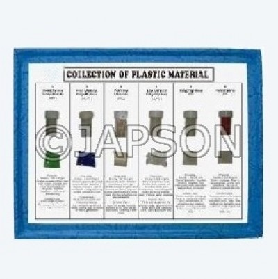 Collection Of 6 Plastic Material with Properties & Uses