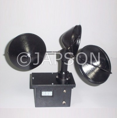 Cup Anemometer with Digital Display