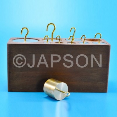 Masses (Weights), Hooked, Double sided, Fixed, Brass