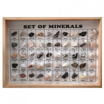 Mineral Set, Collection of 50 Minerals