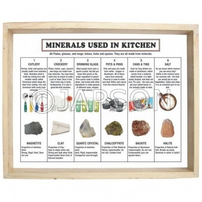 Minerals Used in the Kitchen, Set of 6