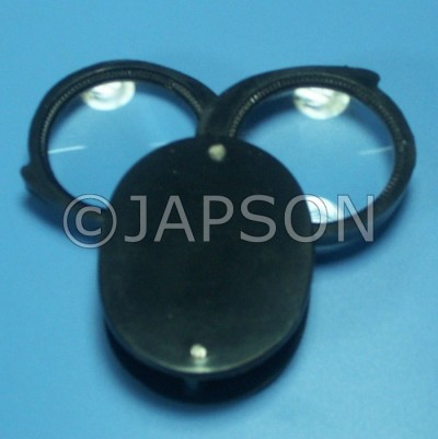 Pocket Magnifier with Unbreakable Plastic Frame - Single, Double and Triple