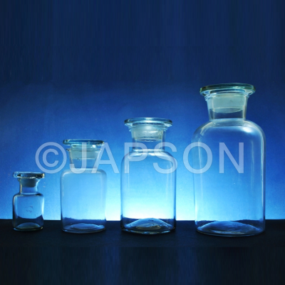 Reagent Bottle, Wide Mouth (Clear Glass)