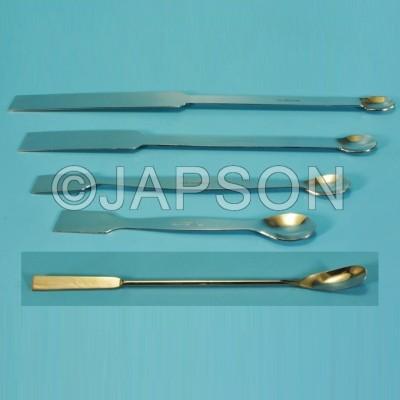 Spatula, Superior, Laboratory, One Side Flat, One Side Spoon