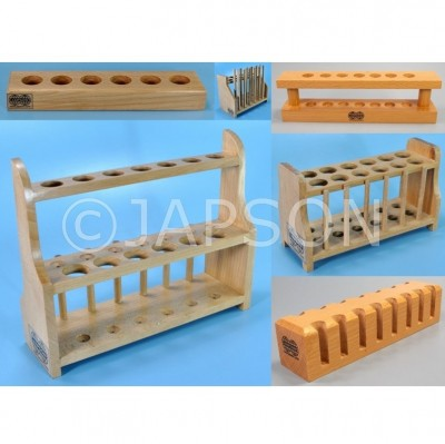 Test Tube Stand and other Laboratory Products of Steamed Beech
