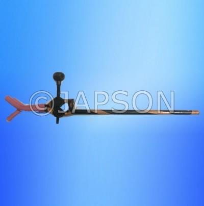 Three Prong, Retort Clamp, Copper Oxidized