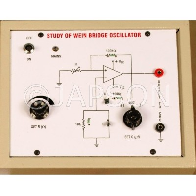 Wein Bridge Oscillator using Operational Amplifier IC 741 Experiment Apparatus