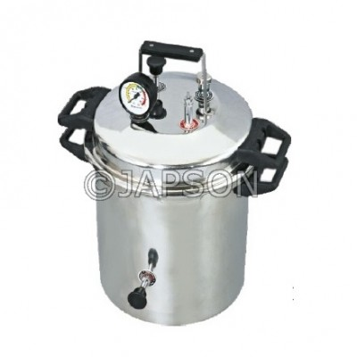 Autoclave, Portable, Stainless Steel, Pressure Cooker Type (Sterilizer Pressure Type)