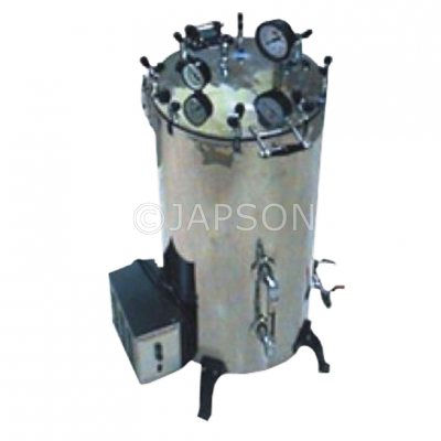 Autoclave, Triple Wall, Vertical, High Pressure, with Steam Jacket