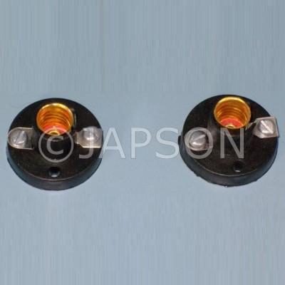 Bulb Holders, metal screw cup