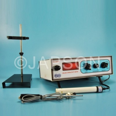 Conductivity Meter, Digital, Table Model, Manual Temperature Compensation