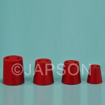 Cork Stopper, Rubber, Two Holes