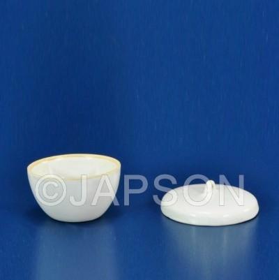 Crucible, Porcelain, Squat Form