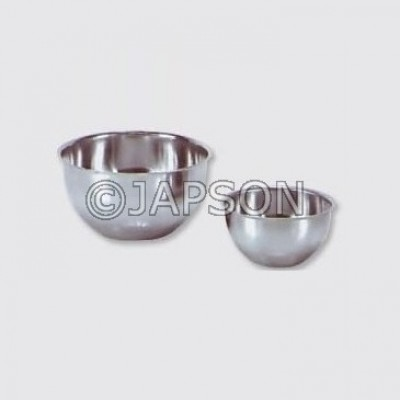 Gallipot Round, Lotion Bowl, Stainless Steel