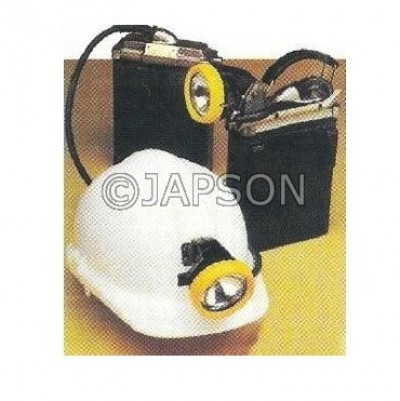 Helmet with Miners Lamp