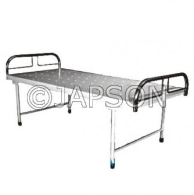 Hospital Plain Bed Stainless Steel Panel