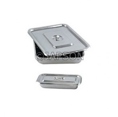 Instrument Tray With Cover, Stainless Steel