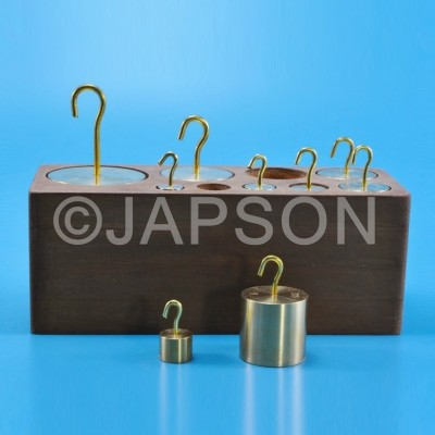 Masses (Weights), Hooked, Brass