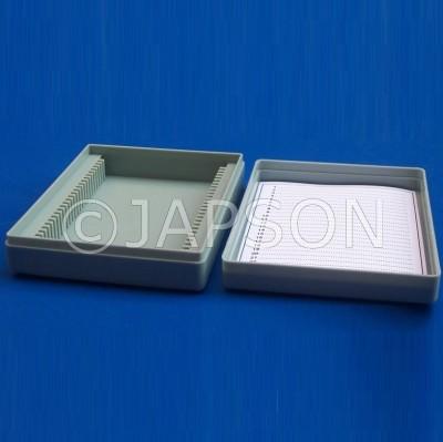 Microscope Slide Box, Plastic