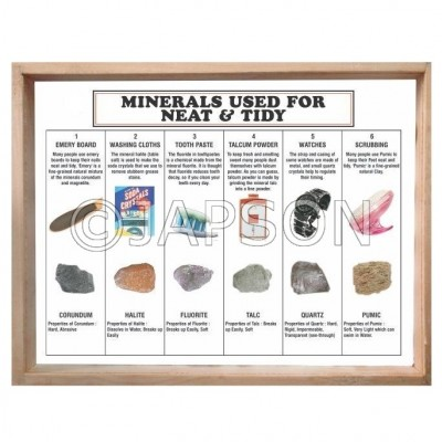 Minerals Used for Neat & Tidy, Set of 6
