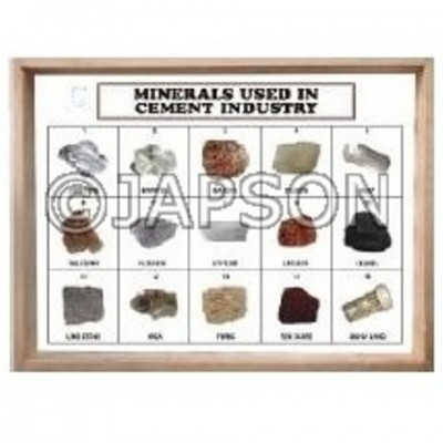 Minerals Used in Cement Industry, Set of 15