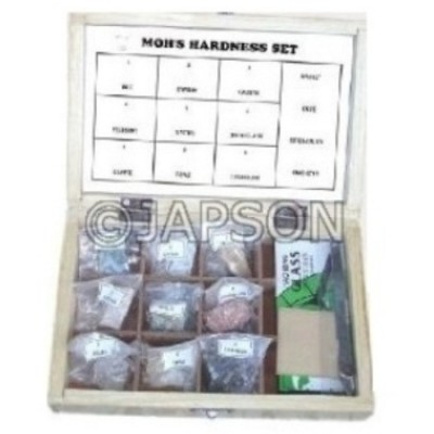 Mohs Hardness Set, Collection of 9 Mohs Hardness Set