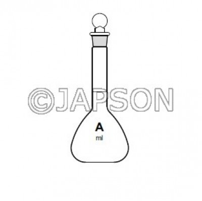 Quartz Volumetric Flask with Stopper, Class-A