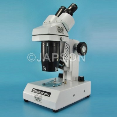 Research Stereo Microscope, with Turret Mount and Dual Illumination