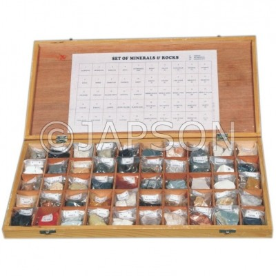 Rocks & Minerals Set, Collection of 50 Rocks & Minerals