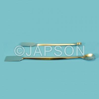 Spatula, Laboratory, One Side Flat, One Side Spoon