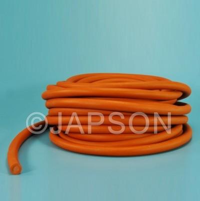 Tubing, Rubber, Orange