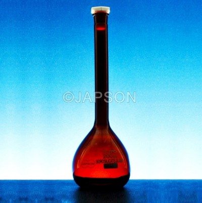 Volumetric Flask, Amber