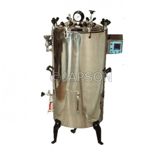 Autoclave, Triple Wall, Vertical, High Pressure, Nut Locking