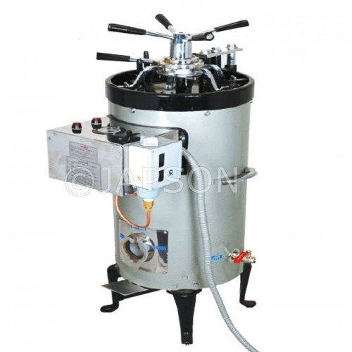 Autoclave, Triple Wall, Vertical, High Pressure, Radial Locking with Steam Jacket