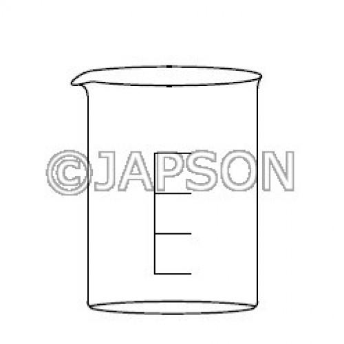 Quartz  Beaker Low Form with Spout