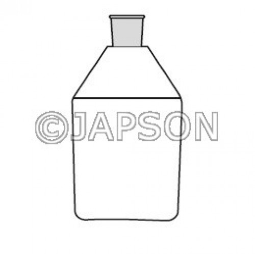Quartz Reagent Bottle with Silicon Stopper