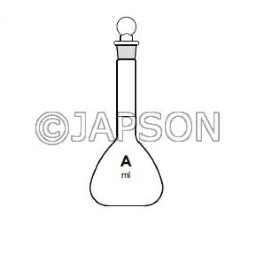 Quartz Volumetric Flask with Stopper, Class-A
